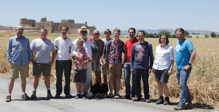 The Global Digital Heritage Team outside of Calatrava la Vieja, Castilla la Mancha, Spain