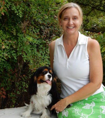 Michele True with dog
